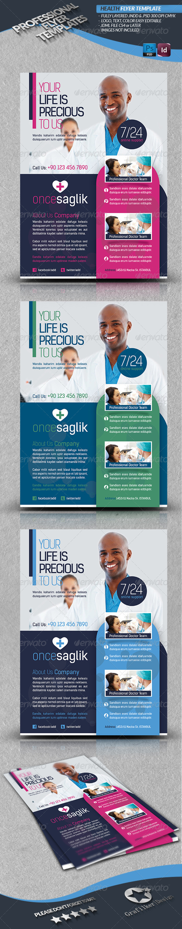 Health Flyer Template - Corporate Brochures