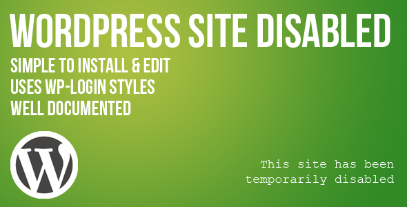CodeCanyon WordPress Site Disabled Page 4464824