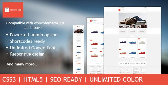 TenderShop - Minimal WordPress eCommerce Theme - ThemeForest Item for Sale