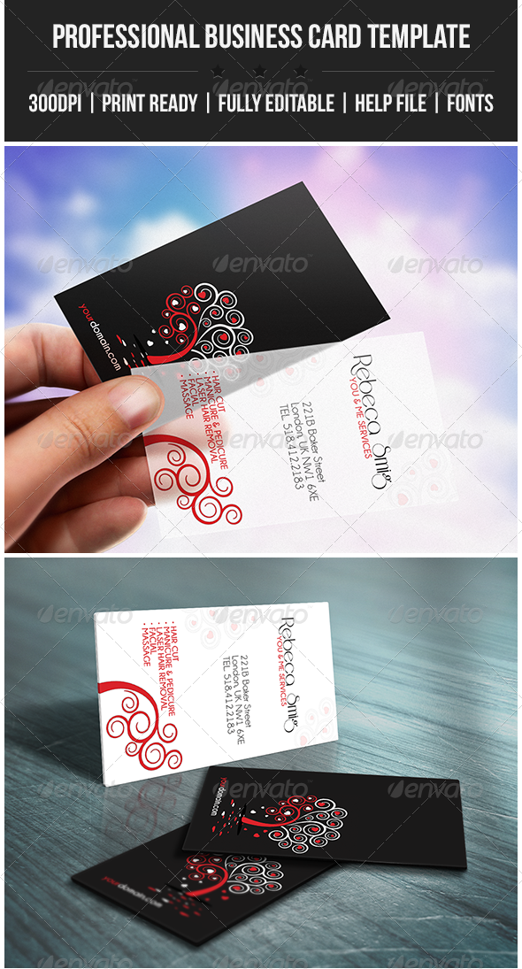 GraphicRiver Universal Me & You Elegant Business Card 4377138