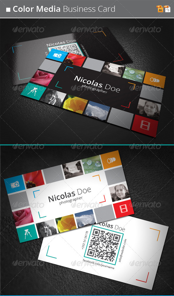 GraphicRiver Color Media Business Card 4293956