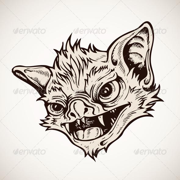 GraphicRiver Head Bat Vector 4481848