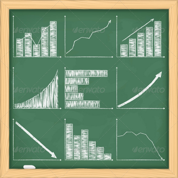 GraphicRiver Charts on Blackboard 4482056