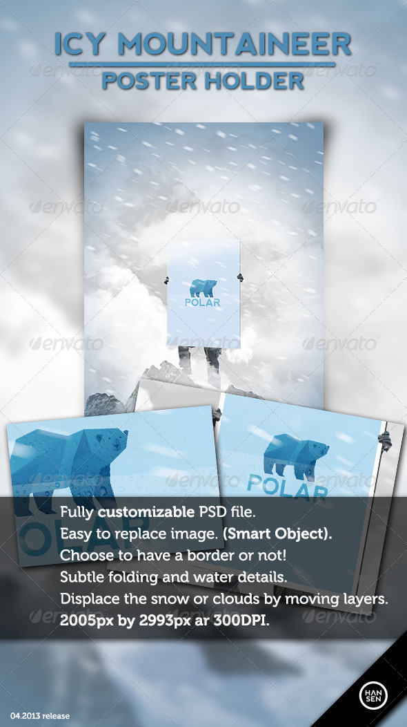 GraphicRiver Icy Mountaineer Poster Holder 4482102
