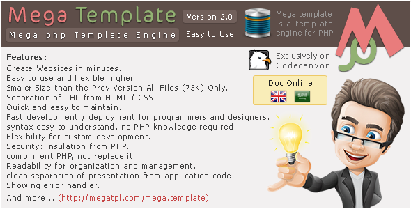 CodeCanyon Mega PHP Template Engine 3753511