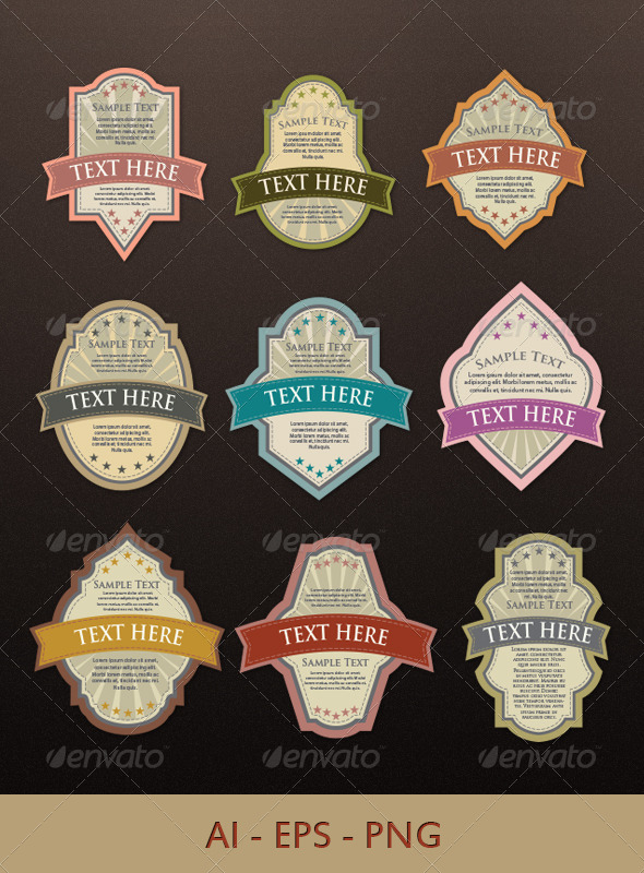 GraphicRiver Label Templates 4482410