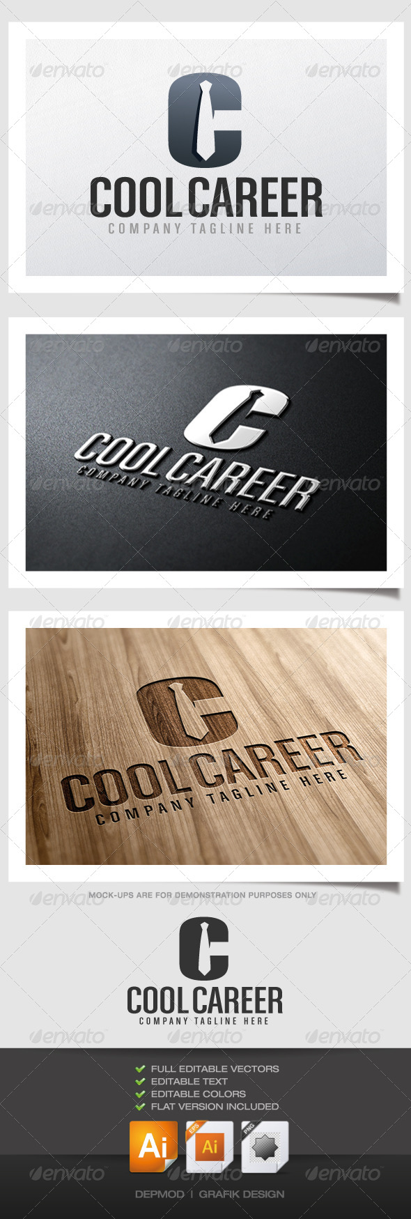 GraphicRiver Cool Carreer Logo 4482425
