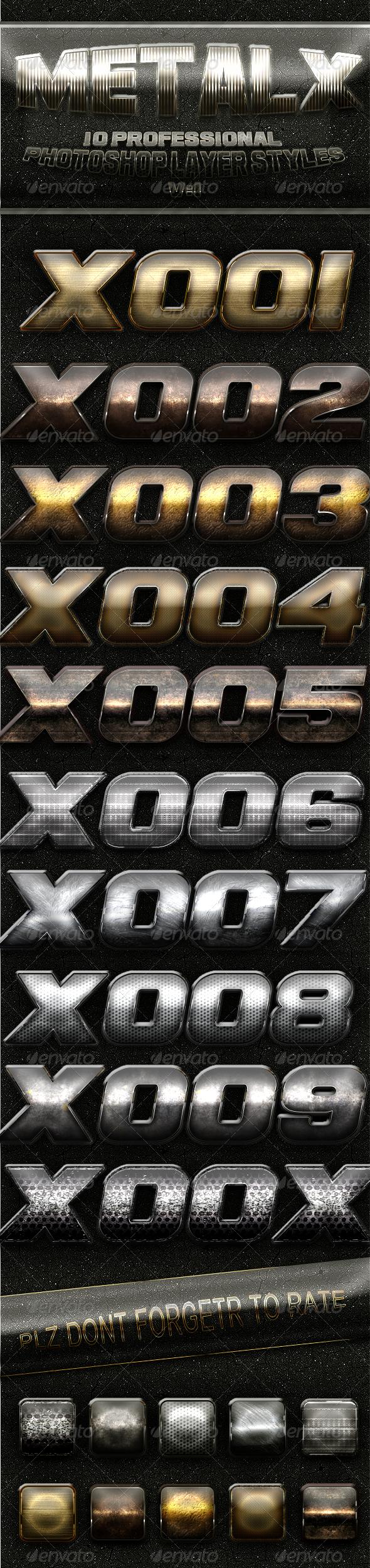 GraphicRiver MetalX Layer Styles V1 4482455