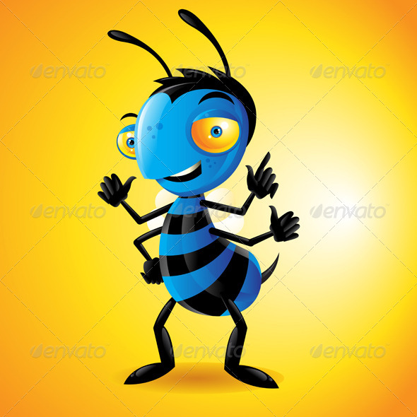 GraphicRiver Character Bee Yellow 4428752