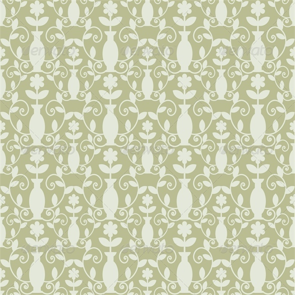 GraphicRiver Grey Damask Pattern 4482558