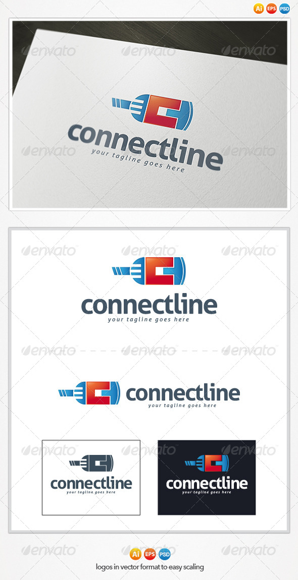 GraphicRiver Connect Line Logo 4482671