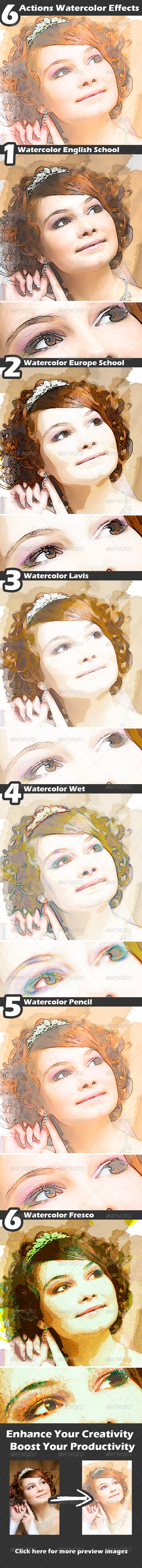 GraphicRiver Actions Watercolor Effects 4482722