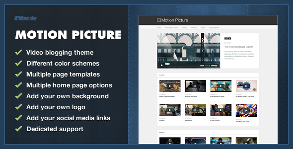 Motion Picture - WordPress Video Blogging Theme - Blog / Magazine WordPress