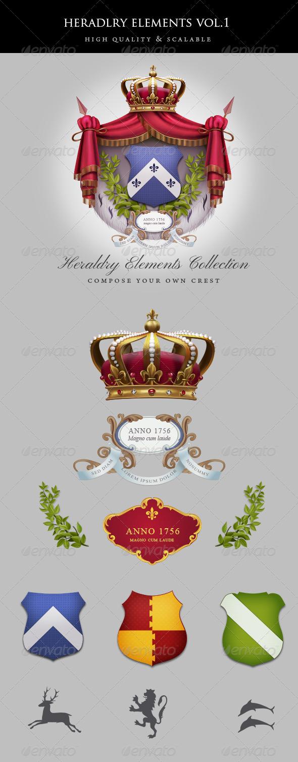 GraphicRiver Vintage Heraldry Elements 4482800