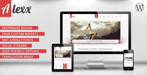 Alexx - Multipurpose WordPress Theme - ThemeForest Item for Sale