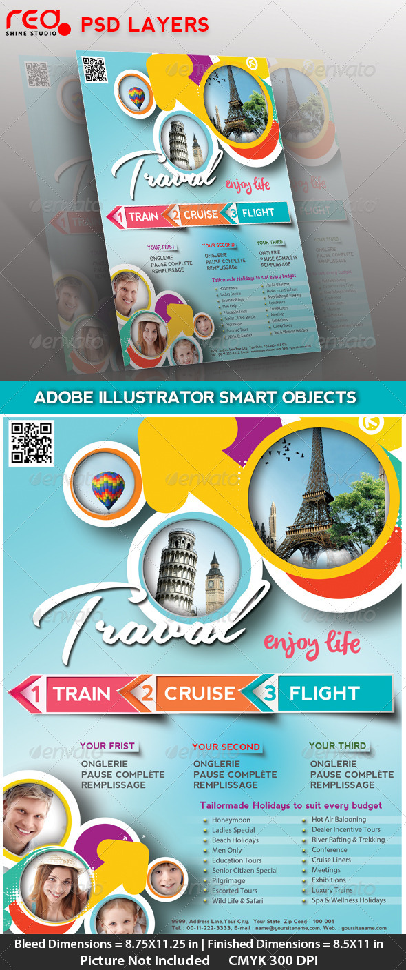 GraphicRiver Travel Flyer Poster & Magzine Cover 4482867