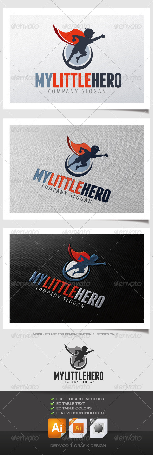 My Little Hero Logo - Humans Logo Templates