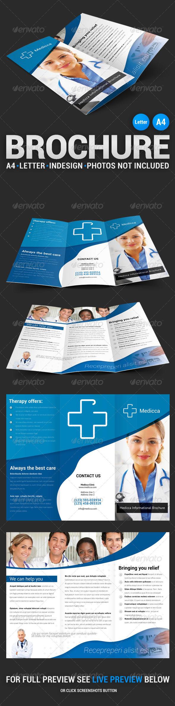 GraphicRiver Medicca Tri-fold Brochure 4483001