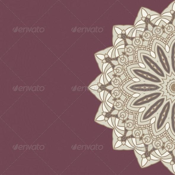GraphicRiver Vector Round Decorative Design Ornament 4483008