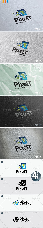 Pixel T - Letters Logo Templates