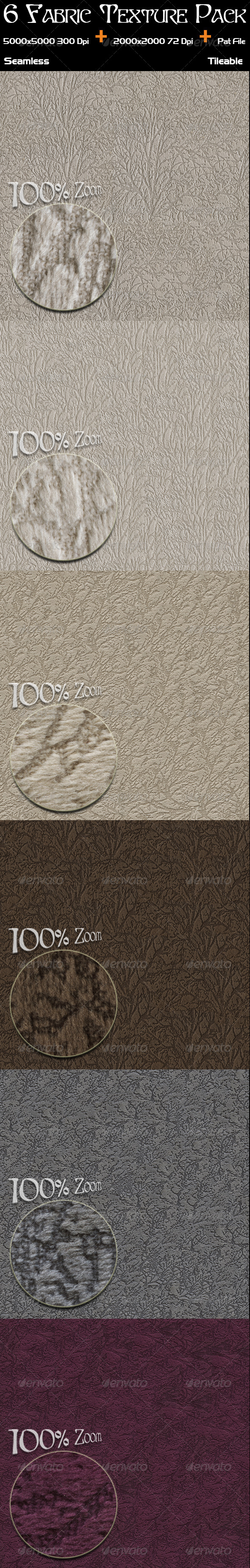 GraphicRiver 6 Fabric Texture Pack 4483351