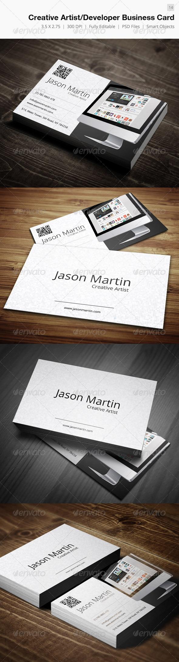 GraphicRiver Creative Artist Developer Business Card 14 4395624