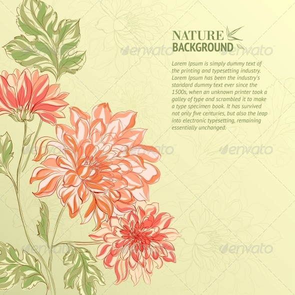 GraphicRiver Branch of Chrysanthemum 4483597
