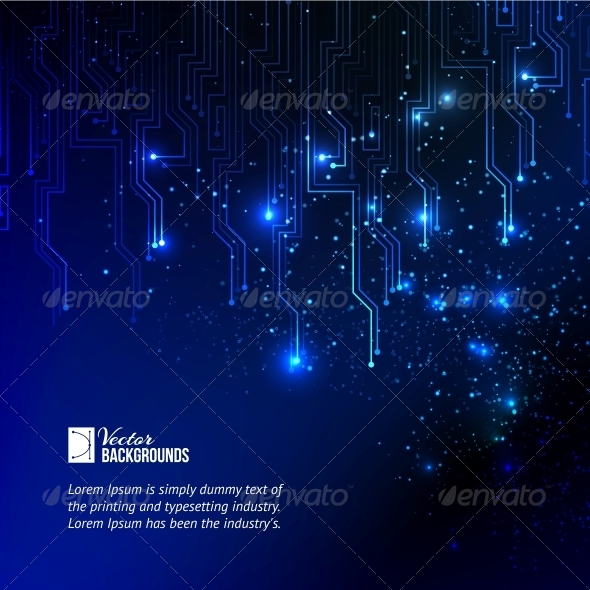 GraphicRiver Abstract Blue Lights Background 4483623
