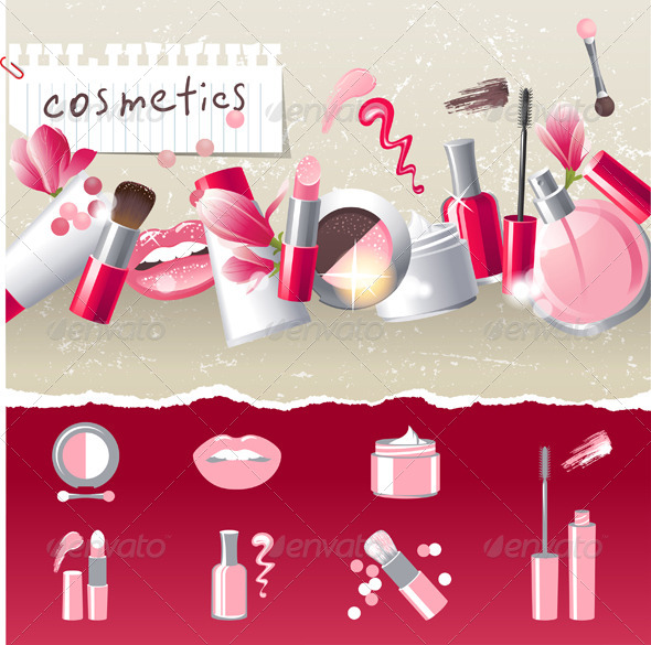 GraphicRiver Make-up Background 4483700