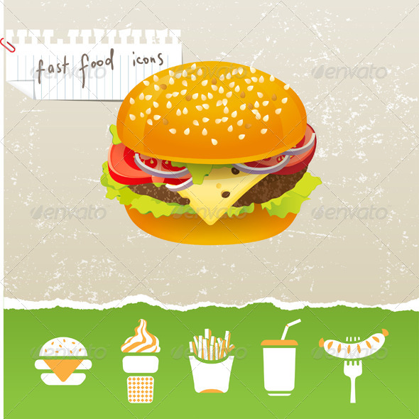 GraphicRiver Fastfood Icons 4483709