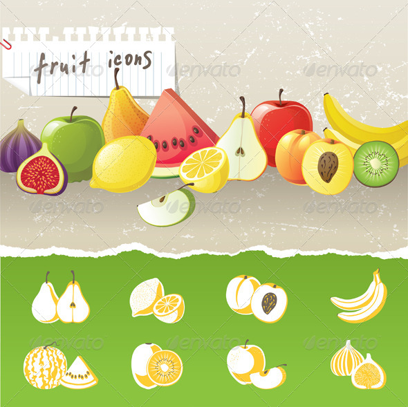GraphicRiver Fruit Icons 4483980