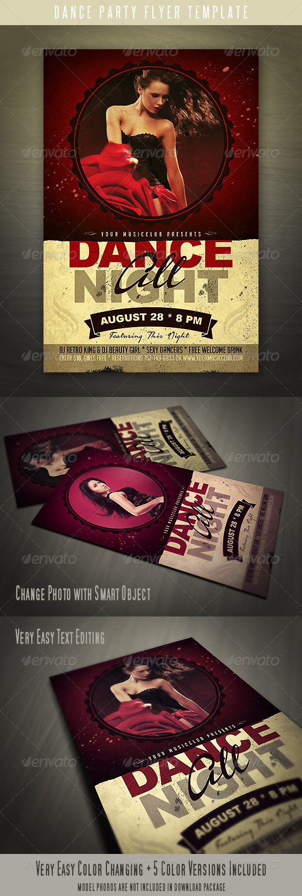 GraphicRiver Dance Party Flyer 4484028