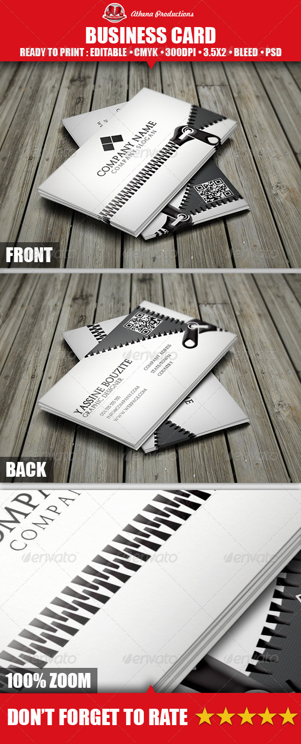 GraphicRiver Zipped Business Card 3703142