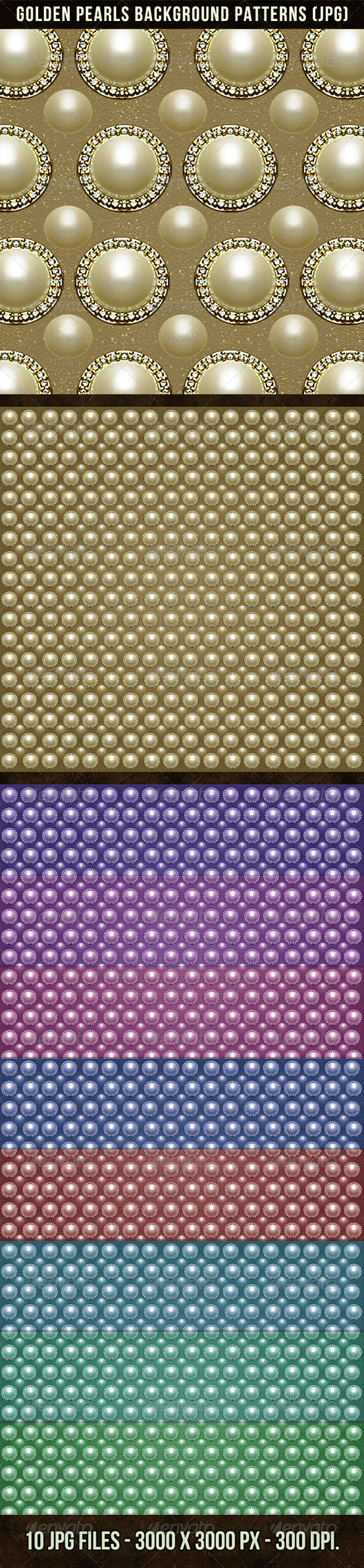 Golden Pearls Background Patterns - Patterns Decorative