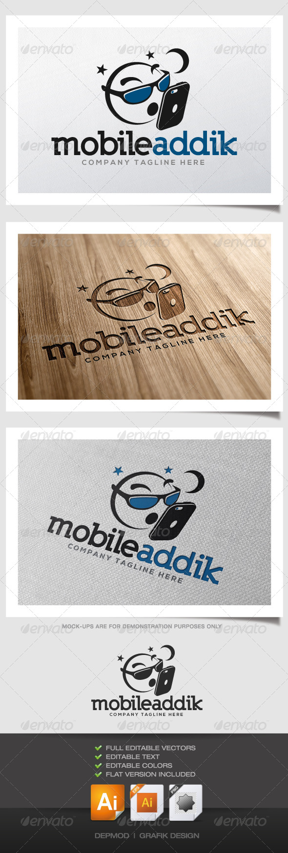 Mobile Addik Logo - Symbols Logo Templates