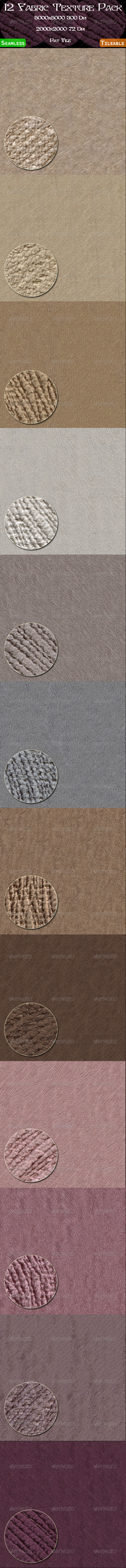 GraphicRiver 12 Fabric Texture Pack 4484752