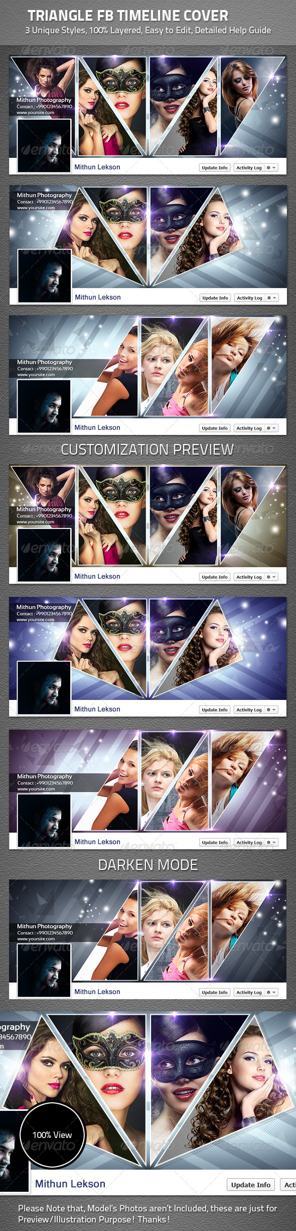 GraphicRiver Triangle FB Timeline Cover 4484923