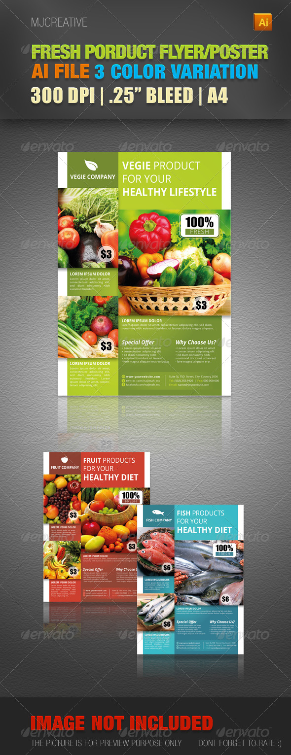 GraphicRiver Fresh Product Flyer & Poster 4484935