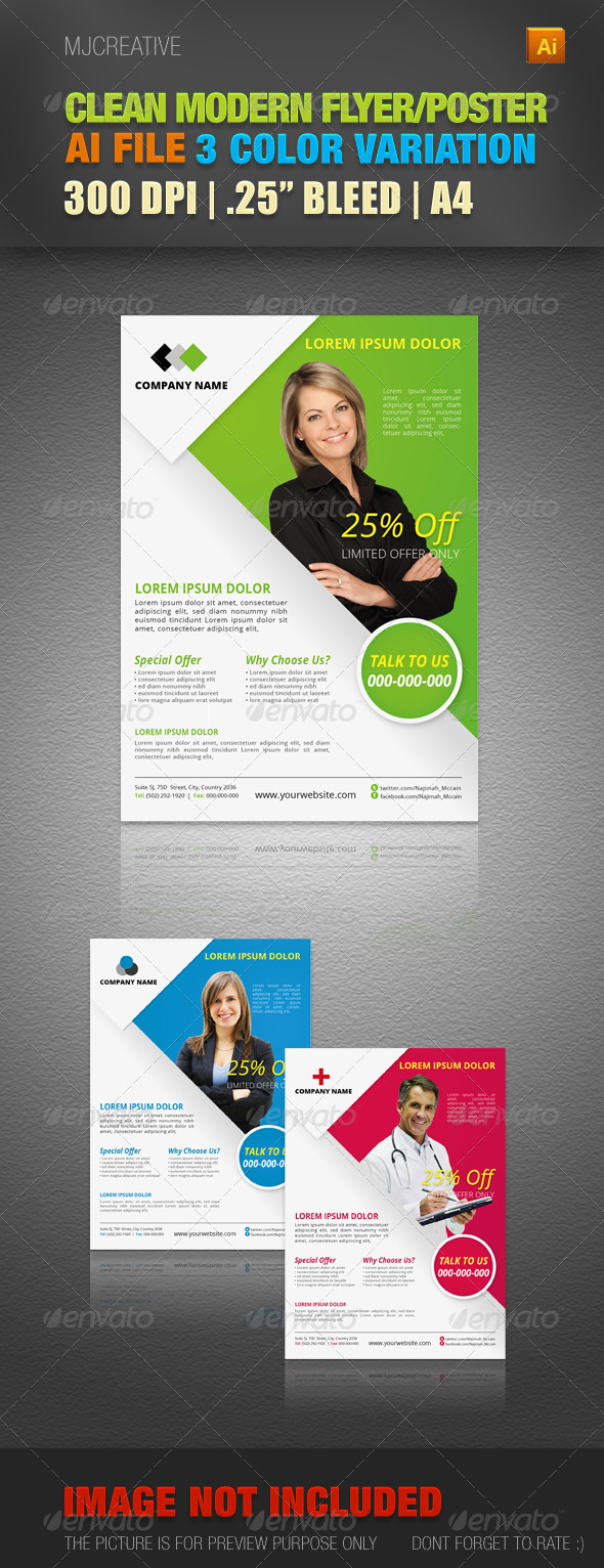 GraphicRiver Clean Corporate Flyer & Poster 4484956