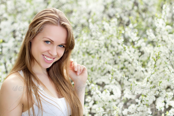 Young smiling woman - Stock Photo - Images