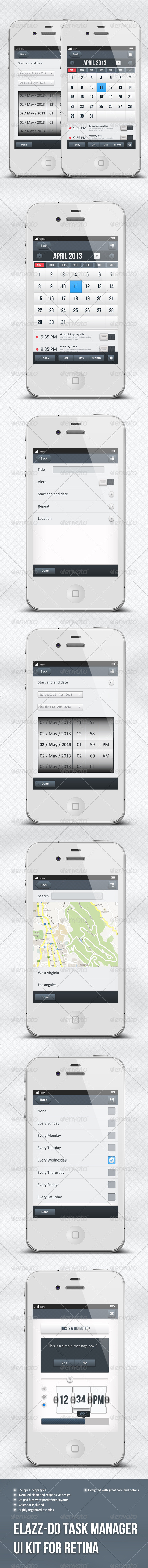 IOS Task Manager App Ui - Elazz-Do - User Interfaces Web Elements