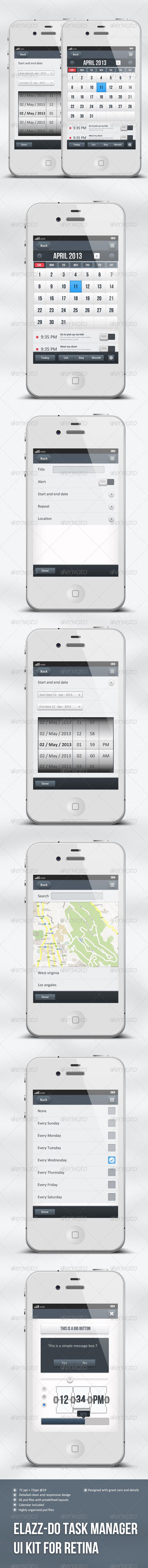 IOS Task Manager App Ui - Elazz-Do - User Interfaces Web Elements