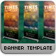 A Times Concert Banner Template - GraphicRiver Item for Sale
