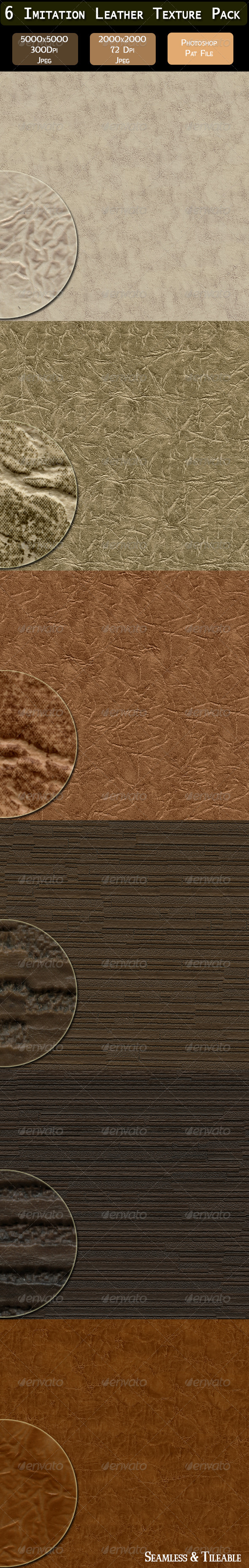 GraphicRiver 6 Imitation Leather Texture Pack 4485131
