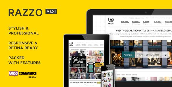 Razzo Premium Business / eCommerce WordPress Theme - ThemeForest Item for Sale