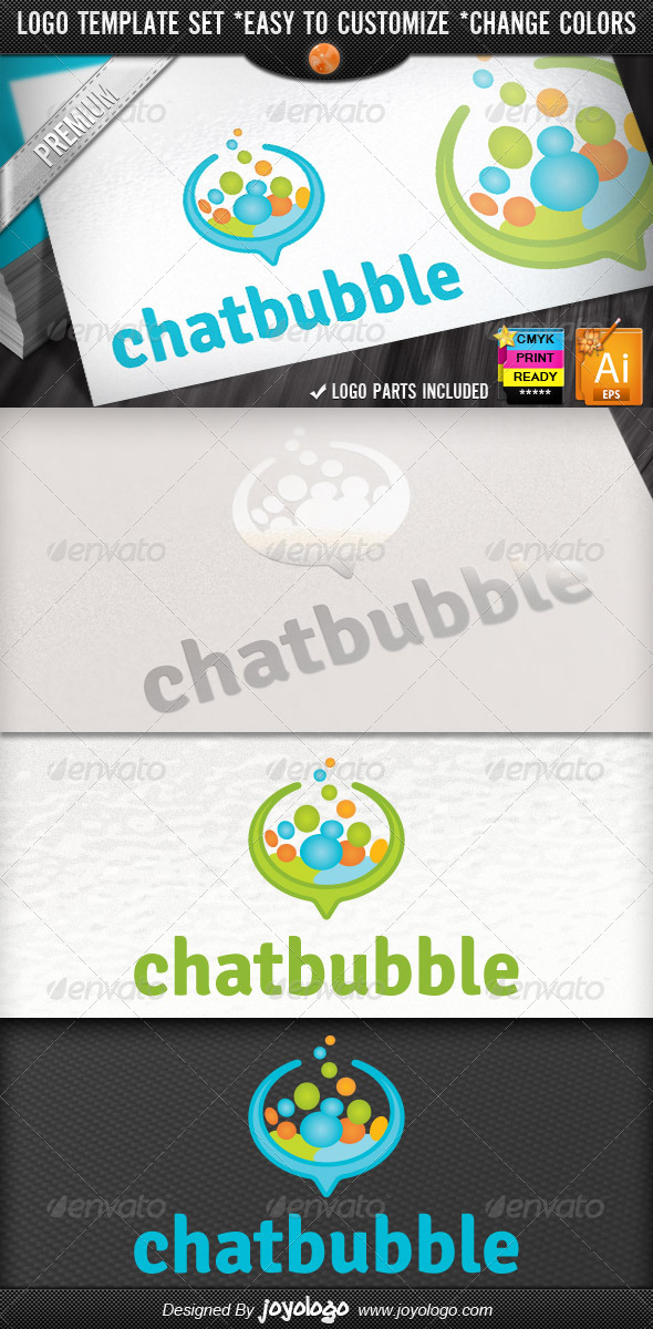 GraphicRiver Social Media Applications Speech Bubbles Chat Logo 4485309