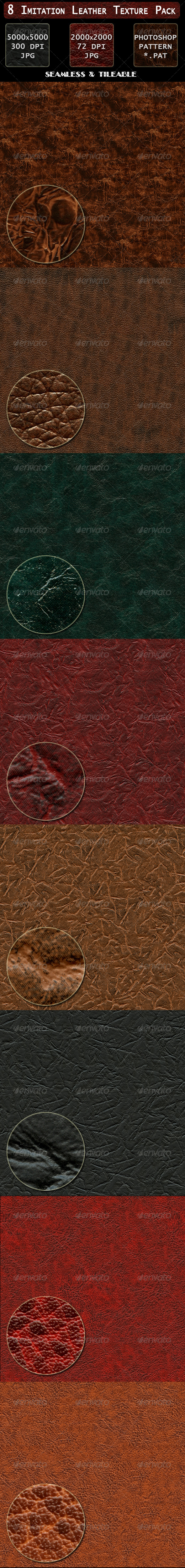 GraphicRiver 8 Imitation Leather Texture Pack 4485341