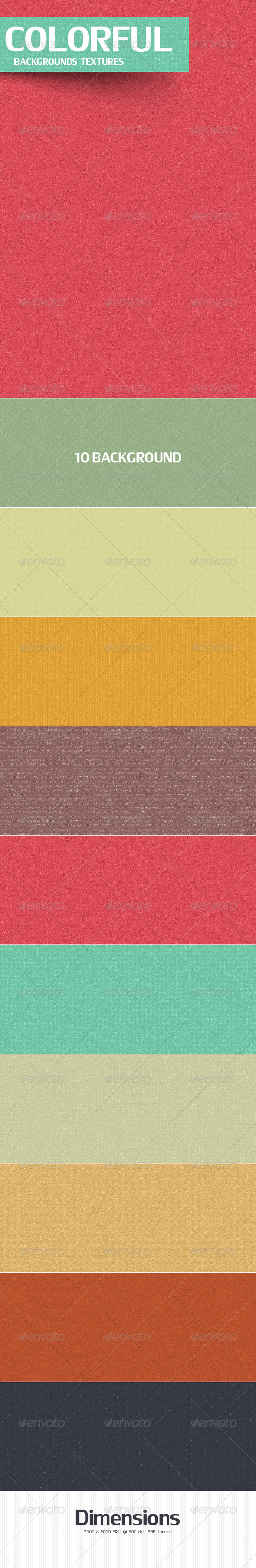 GraphicRiver Colorful Backgrounds Textures 4485347