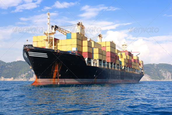 PhotoDune transportation containers ship 475485