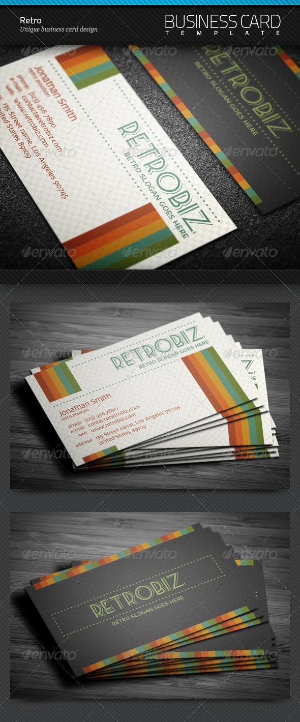 GraphicRiver Retro Business Card 4281277